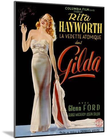 Gilda, Belgian Poster, Rita Hayworth, 1946--Mounted Giclee Print