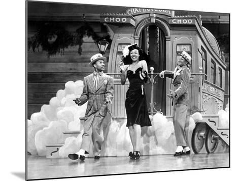 Sun Valley Serenade, Nicholas Brothers, Dorothy Dandridge, 1941, 'Chatanooga Choo Choo.'--Mounted Photo