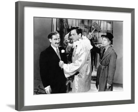 A Night at the Opera, Groucho Marx, Walter Woolf King, Harpo Marx, 1935--Framed Art Print