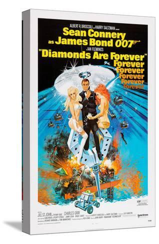 Diamonds are Forever, Sean Connery, 1971--Stretched Canvas Print