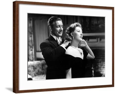 Random Harvest, Ronald Colman, Greer Garson, 1942, Fastening Necklace--Framed Art Print