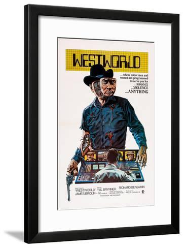 Westworld, Yul Brynner, 1973--Framed Art Print