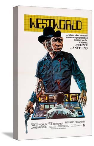Westworld, Yul Brynner, 1973--Stretched Canvas Print