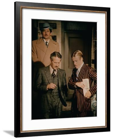 The Sting, Robert Shaw (Rear), Front from Left: Paul Newman, Robert Redford, 1973--Framed Art Print