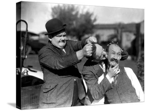 Big Business, Oliver Hardy, Stan Laurel [Laurel and Hardy], James Finlayson, 1929--Stretched Canvas Print