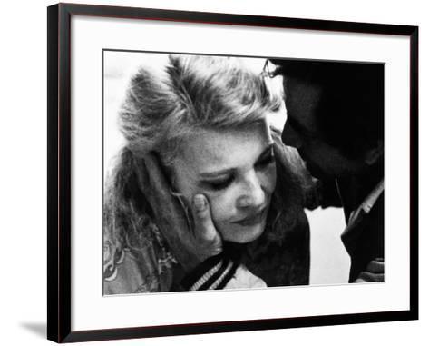 A Woman under the Influence, from Left, Gena Rowlands, Peter Falk, 1974--Framed Art Print