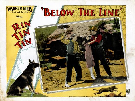 Below The Line, Rin Tin Tin, June Marlowe, 1925--Stretched Canvas Print
