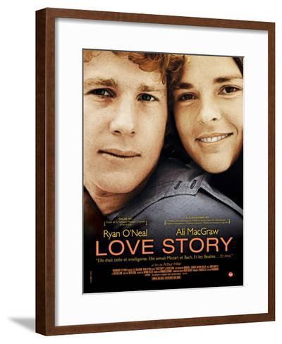 Love Story, Ryan O'Neal, Ali Macgraw, French Poster Art, 1970--Framed Art Print