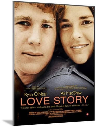 Love Story, Ryan O'Neal, Ali Macgraw, French Poster Art, 1970--Mounted Giclee Print