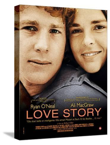 Love Story, Ryan O'Neal, Ali Macgraw, French Poster Art, 1970--Stretched Canvas Print