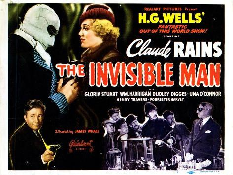 The Invisible Man, 1933--Stretched Canvas Print
