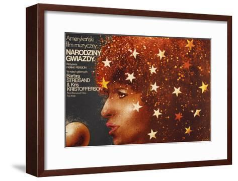 A Star Is Born, Polish Poster Art, Barbra Streisand, 1976--Framed Art Print