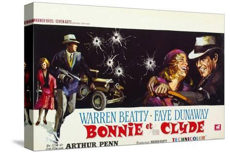 Bonnie and Clyde, (AKA Bonnie Et Clyde), 1967--Stretched Canvas Print