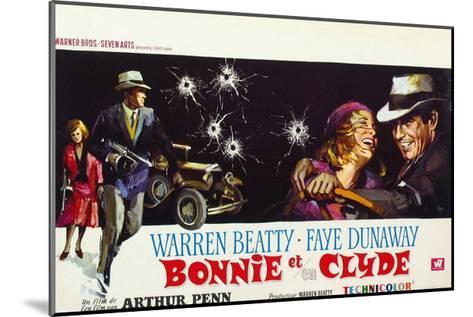 Bonnie and Clyde, (AKA Bonnie Et Clyde), 1967--Mounted Giclee Print