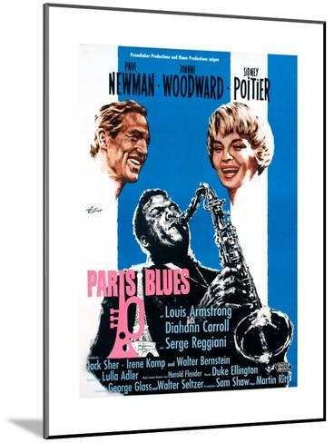 Paris Blues, from Left, Paul Newman, Sidney Poitier, Joanne Woodward, 1961--Mounted Giclee Print