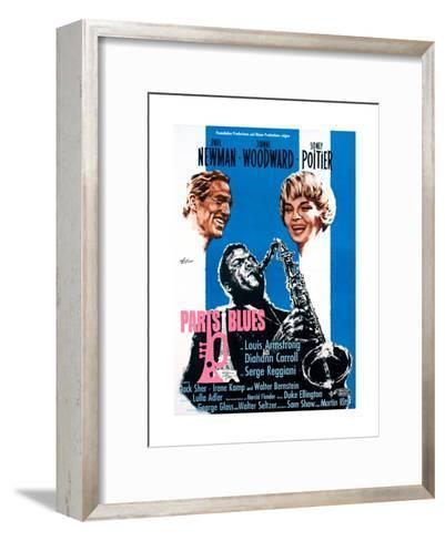 Paris Blues, from Left, Paul Newman, Sidney Poitier, Joanne Woodward, 1961--Framed Art Print