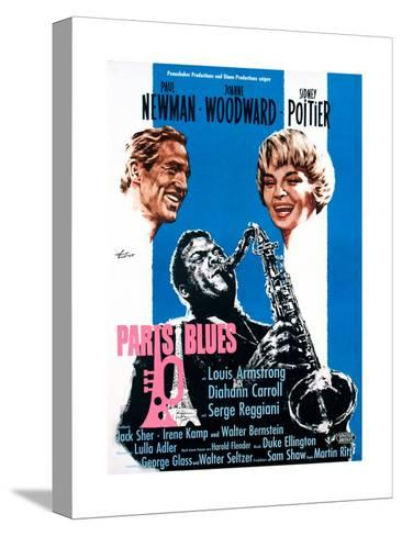 Paris Blues, from Left, Paul Newman, Sidney Poitier, Joanne Woodward, 1961--Stretched Canvas Print