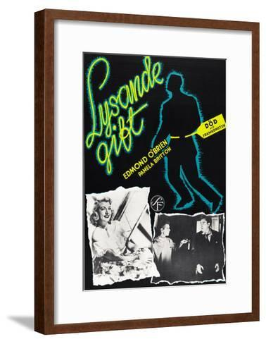 D.O.A., (aka Lysande Gift), Swedish Poster Art, 1950--Framed Art Print