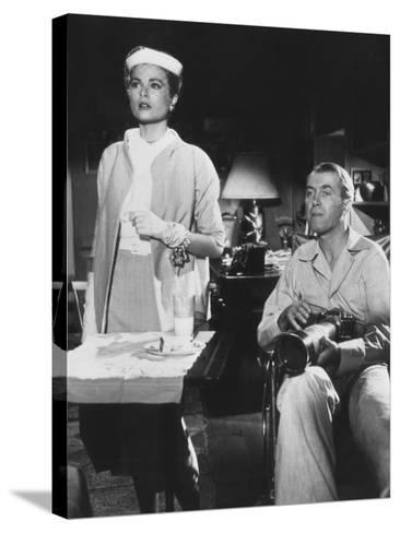 Rear Window, from Left: Grace Kelly, James Stewart, 1954--Stretched Canvas Print