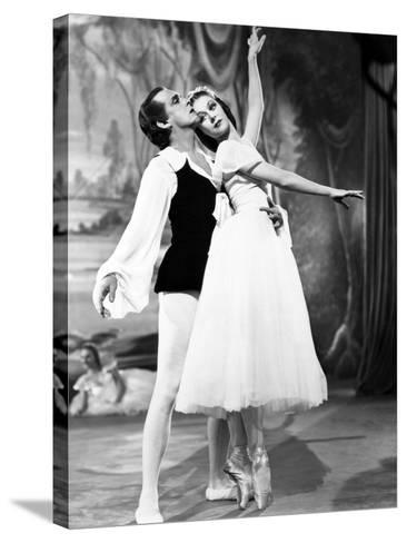The Red Shoes, from Left: Robert Helpmann, Moira Shearer, 1948--Stretched Canvas Print