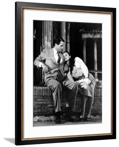 Roman Holiday, Gregory Peck, Audrey Hepburn, 1953--Framed Art Print