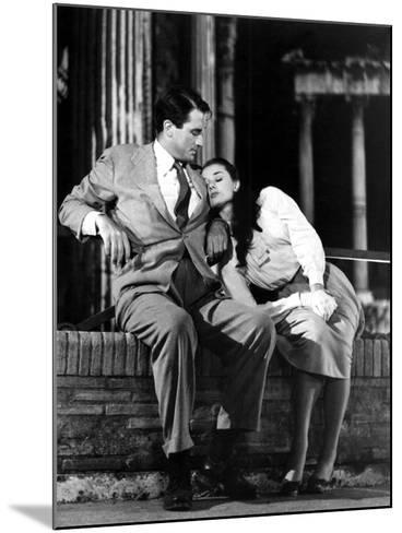 Roman Holiday, Gregory Peck, Audrey Hepburn, 1953--Mounted Photo