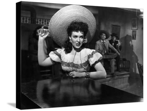 My Darling Clementine, Linda Darnell, 1946--Stretched Canvas Print