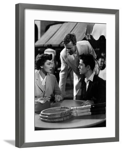 Strangers on a Train, Ruth Roman, Farley Granger, 1951--Framed Art Print