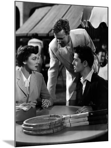 Strangers on a Train, Ruth Roman, Farley Granger, 1951--Mounted Photo