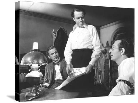 Citizen Kane, Joseph Cotten, Orson Welles, Everett Sloane, 1941--Stretched Canvas Print