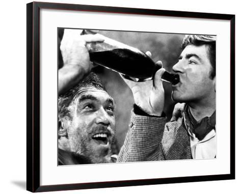 Zorba the Greek, Anthony Quinn, Alan Bates, 1964--Framed Art Print