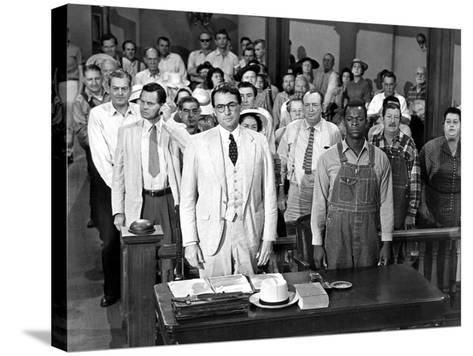 To Kill a Mockingbird, Gregory Peck, Brock Peters, 1962--Stretched Canvas Print