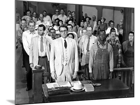 To Kill a Mockingbird, Gregory Peck, Brock Peters, 1962--Mounted Photo