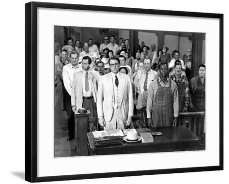To Kill a Mockingbird, Gregory Peck, Brock Peters, 1962--Framed Art Print