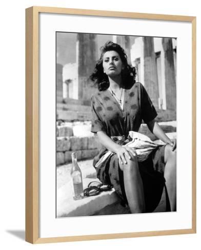 Boy on a Dolphin, Sophia Loren, 1957--Framed Art Print