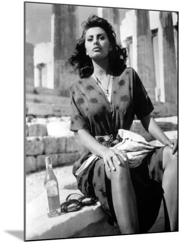 Boy on a Dolphin, Sophia Loren, 1957--Mounted Photo
