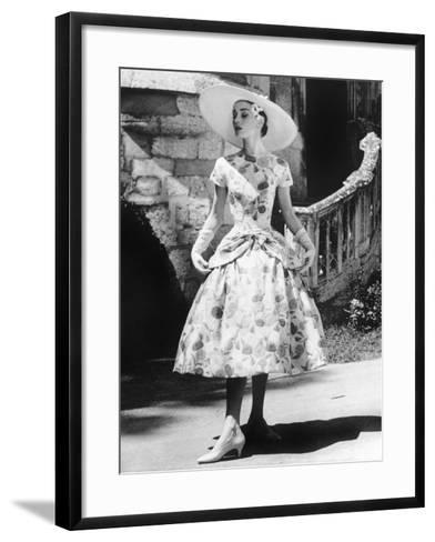 Funny Face, Audrey Hepburn (Wearing a Dress by Givenchy), 1957--Framed Art Print