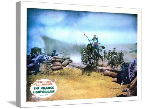 The Charge of the Light Brigade, Errol Flynn, 1936--Stretched Canvas Print