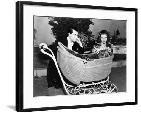 Bringing Up Baby, Cary Grant, Katharine Hepburn, 1938--Framed Art Print