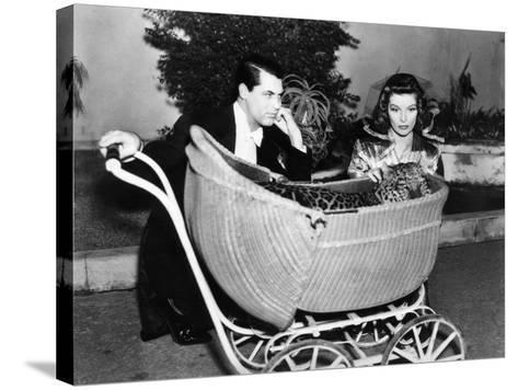 Bringing Up Baby, Cary Grant, Katharine Hepburn, 1938--Stretched Canvas Print
