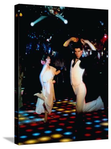 Saturday Night Fever, John Travolta (Front), 1977--Stretched Canvas Print