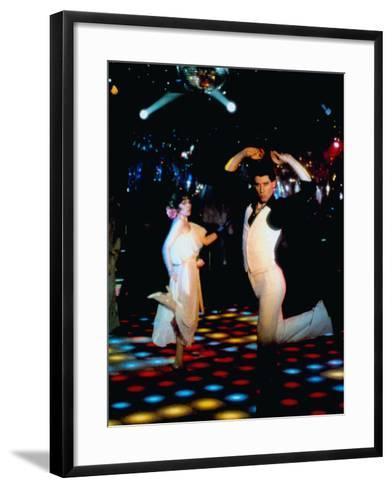 Saturday Night Fever, John Travolta (Front), 1977--Framed Art Print