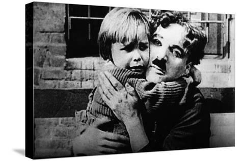 The Kid, Jackie Coogan, Charles Chaplin, 1921--Stretched Canvas Print