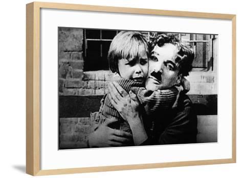 The Kid, Jackie Coogan, Charles Chaplin, 1921--Framed Art Print