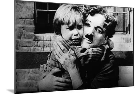 The Kid, Jackie Coogan, Charles Chaplin, 1921--Mounted Photo