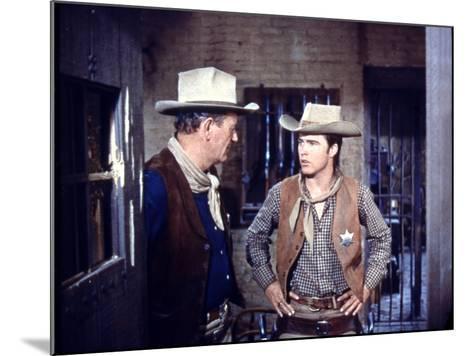 Rio Bravo, from Left: John Wayne, Ricky Nelson, 1959--Mounted Photo