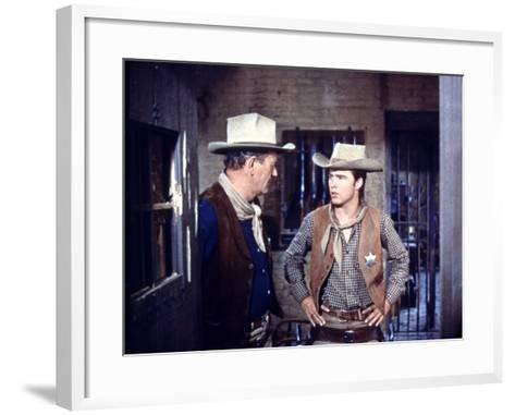 Rio Bravo, from Left: John Wayne, Ricky Nelson, 1959--Framed Art Print