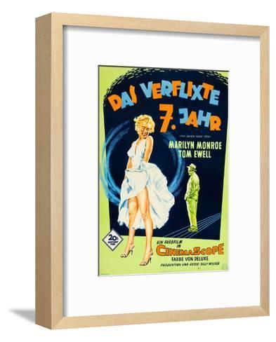 The Seven Year Itch, (aka Das Verflixte 7 Jahr), Marilyn Monroe, Tom Ewell, 1955--Framed Art Print