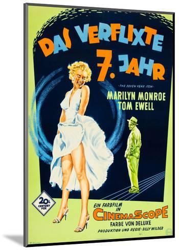 The Seven Year Itch, (aka Das Verflixte 7 Jahr), Marilyn Monroe, Tom Ewell, 1955--Mounted Giclee Print