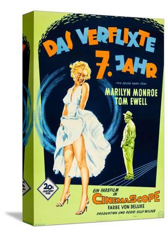 The Seven Year Itch, (aka Das Verflixte 7 Jahr), Marilyn Monroe, Tom Ewell, 1955--Stretched Canvas Print